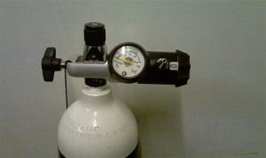 Sabre Select Flow Regulator - Pin Index Cylinder & Regulator together